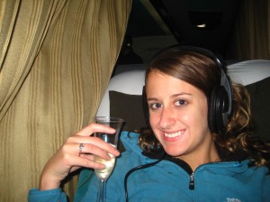 Champagne on the night bus