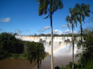 Palm trees, rainbows, waterfalls