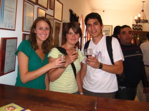 Wine tasting with Natalie and Cris