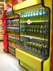 Inca Kola display at Plaza Vea