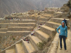 Hanging out at Ollantaytambo