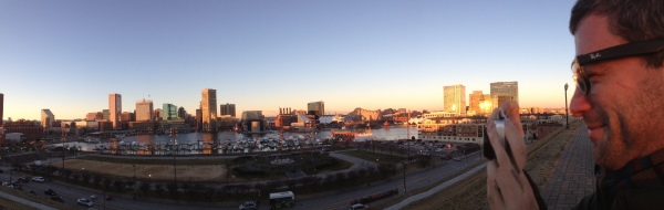 Panorama of Baltimore from Fed Hill - with Travis