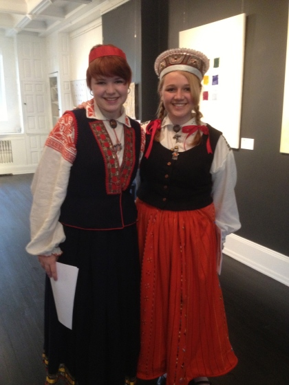 Traditional dancing costumes from Latvia