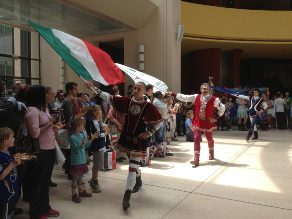 Flag ceremony at the Italian Embassy - EU Open House