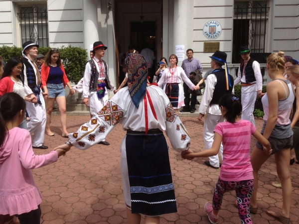 Dancing at the Romanian Embassy - EU Open House