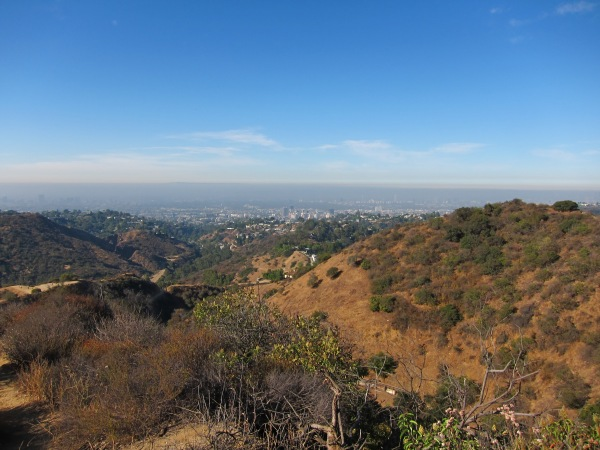 Views hiking to the Hollywood sign