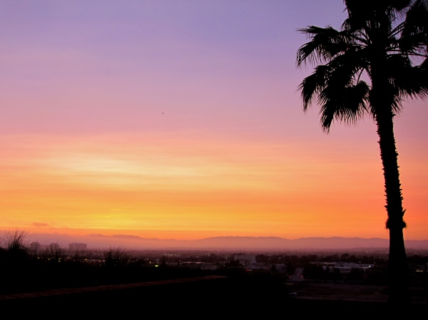 Sunset over LA