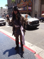Jack Sparrow on the loose in Hollywood
