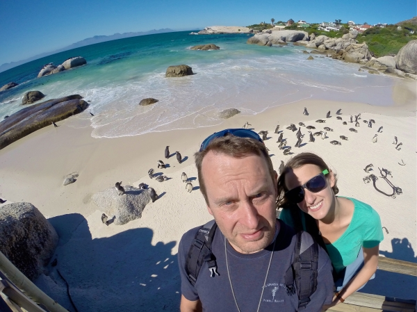 Exploring Cape Peninsula to see penguins at the beach in South Africa